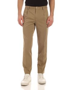 Incotex - Pleated pants in walnut color