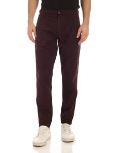 Aspesi - Pleated trousers in plum color