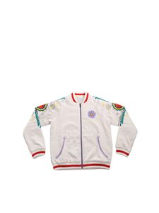 Stella McCartney Kids - Big Flower Patch bomber in ivory color