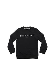 Givenchy - Felpa nera stampa logo destroyed