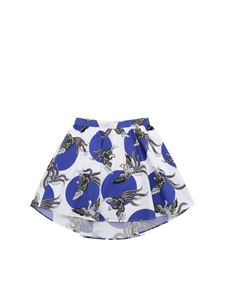 Kenzo - Phoenix Celebration skirt in white and blue