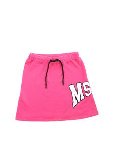 MSGM - Palm logo skirt in fuchsia