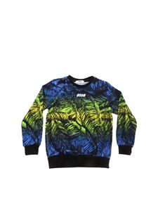 MSGM - Leaves print multicolor sweatshirt