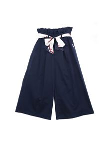 MSGM - Blue crop pants with strap