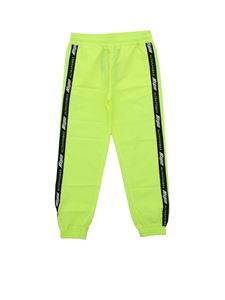MSGM - Technical fabric track pants in neon yellow