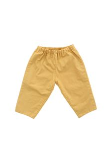Bonpoint - Elastic pants in ocher color
