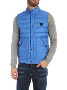 Woolrich - Gilet trapuntato turchese