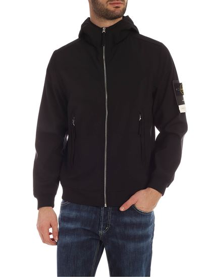 Stone Island - Light Soft Shell-R  jacket in black