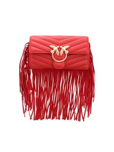 Pinko - Love Wallet Fringes in red