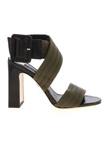 Pinko - Marty sandals in black and green