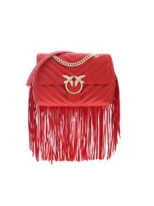 Pinko - Love Puff Fringes bag in red