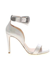 Pinko - Curcuma sandals in iridescent silver