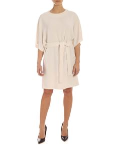 Parosh - Cady mini dress with belt in ivory color