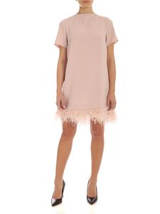 Parosh - Ostrich feathers mini dress in pink