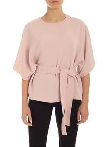 Parosh - Pink cady blouse with belt