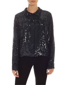 Parosh - Sequins shirt in blue