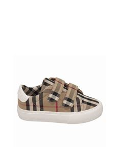 Burberry - Sneakers Mini Markham in cotone Vintage Check