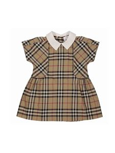 Burberry - Vintage Check cotton dress in beige