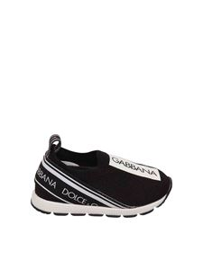 Dolce & Gabbana Jr - Slip on nere in maglina logata
