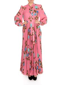 MSGM - Flower motif dress in pink with bow