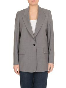 MSGM - Single-breasted one-button jacket in grey