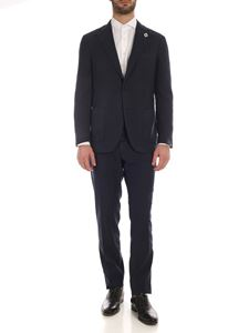 Lardini - Linen and cotton suit in  blue