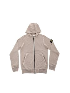 Stone Island Junior - Hooded sweatshirt in sand color