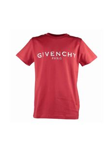 Givenchy - Cotton jersey T-shirt in red with vintage logo print
