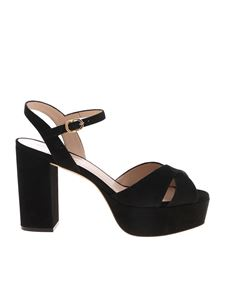 Stuart Weitzman - Ivona suede sandals in black