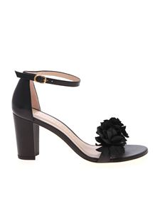 Stuart Weitzman - Nearlynude Flower sandals in black