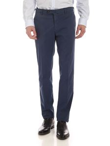 PT01 - Stretch cotton pants in blue