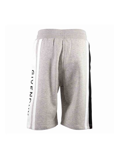 Givenchy - Branded shorts in grey melange cotton