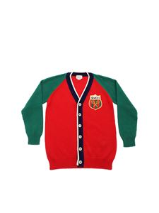Gucci - Gucci Tennis logo cardigan in red