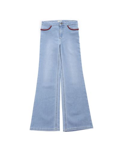 Gucci - Flare jeans in light blue