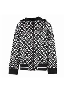 Givenchy - Branded hoodie in black and white