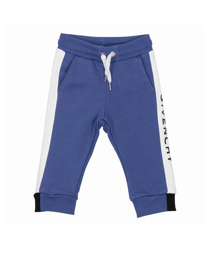 Givenchy - Branded pants in blue cotton