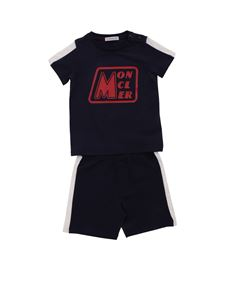 Moncler Jr - T-shirt and bermuda in blue