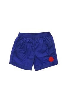 Moncler Jr - Logo swim trunks in blue