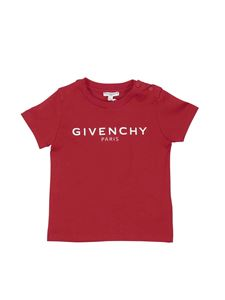 Givenchy - Branded T-shirt in red cotton jersey