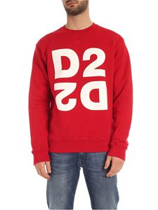 Dsquared2 - Felpa Mirrored D2 rossa