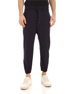 Neil Barrett - Drawstring crop pants in blue