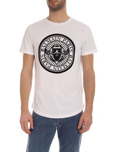 Balmain - Balmain black medallion T-shirt in white