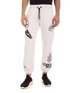 GCDS - Printed sweatpants in white