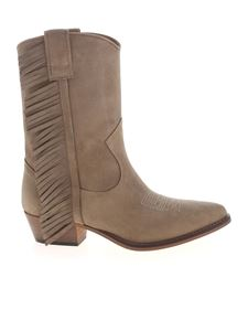 Semicouture - Delphere pointed boots in sand color