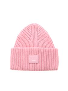 Acne Studios - Face-patch beanie in pink