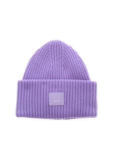 Acne Studios - Face-patch beanie in lavender color