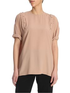 N° 21 - Blouse in powder pink color crepe