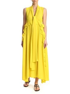 N° 21 - Long curled dress in yellow