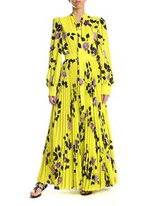 MSGM - Floral printed chemisier dress in yellow