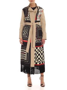 Pinko Uniqueness - Oziosa trench in beige with foulard print